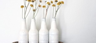 Botellas como elemento decorativo