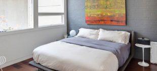 Dormitorio a dos colores
