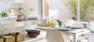 Cocina con espacio de desayuno